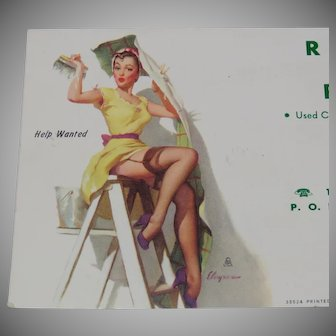 1954 Advertising Pinup Art Ink Blotter