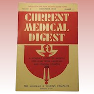 1935 Current Medical Digest Monthly Magazine