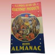 1944 Almanac Illinois Herb Co Healthway Products