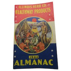 1944 Almanac Illinois Herb Co Healthway Products