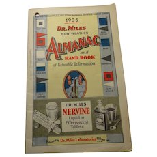 1935 Almanac Dr. Miles New Weather Almanac and Hand Book