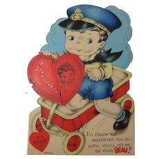 Honeycomb Valentine Never Used Circa 1930-1940
