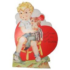 Mechanical Valentine Circa 1930-1940