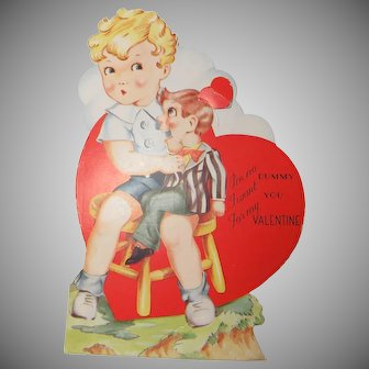 Mechanical Valentine Circa 1930-1940