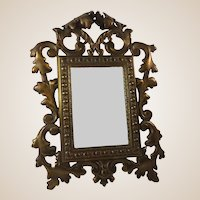 19thC Ornate Mirror Vanity Dressing Table