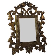 19thC Ornate Mirror Vanity Dressing Table