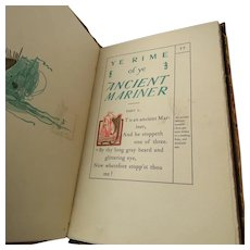 Elbert Hubbard Signed Roycrofters Rime of ye Ancient Mariner 1899 edition 246 of 910