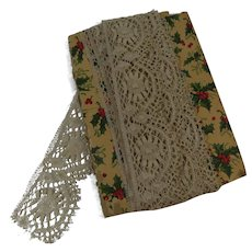 Ecru Machine Embroidered and Scalloped Lace Edging 8 yards