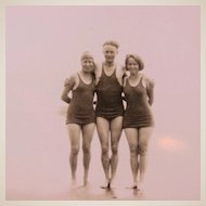 On The Beach in the 1930s Bathing Suit Group  San Francisco