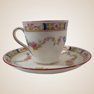 Minton Rose Demitasse Cup and Saucer Date Marked 1888