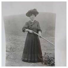 Gun Totting Lady Photo Taken At Shelter Cover California in 1909