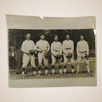 1920s Baseball Photograph Unknown Team