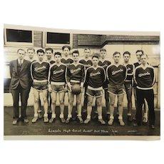 1932 Lincoln Basket Ball Team Portland Oregon High School