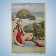 Bathing Beauty on the Beach Post Card