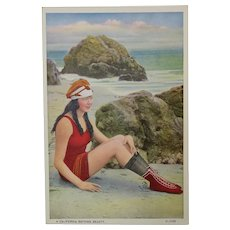 Bathing Beauty on the Beach Post Card