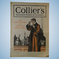 1904 Collier's Magazine Sherlock Holmes Newest and Upton Sinclair