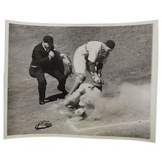 Baseball Photo 1936 Yankees White Sox Out At Home Plate