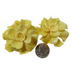 1960s Flower Power Clip Earrings