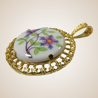 Royal Worcester Lavalier Pendant Necklace