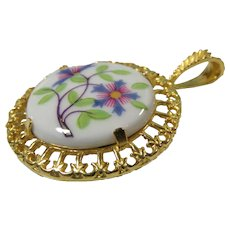 Royal Worcester Lavalier Pendant Necklace