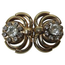Duette Pin Mid Century Gold Tone Glitter and Glam