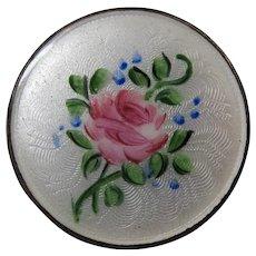 Round Enamel Brooch Pin Beautiful Pin Rose