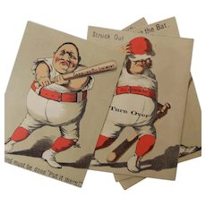 Baseball Ephemera Adverting for Gargling Oil Liniment