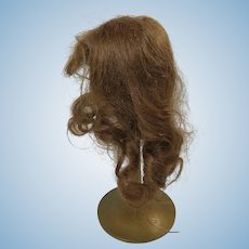 Doll Wig Light Auburn Human Hair