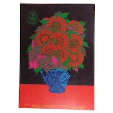 Family Dog Post Card Flower Pot 1967