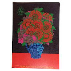 Family Dog Psychedelic Post Card Flower Pot 1967