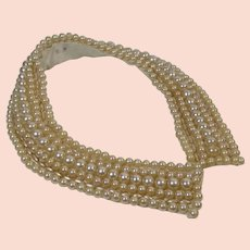 Peter Pan Pearl Collar 1950s Pixie Cute
