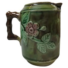 Majolica Cream Pitcher 19thC Apple Blossom Design