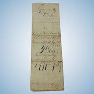 1856 Handwritten Power of Attorney Muscatine Iowa