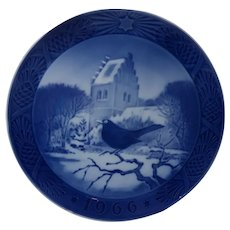1966 Royal Copenhagen Black Bird At Christmas Time Plate