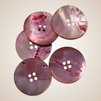 Large Pink Mother of Pearl Vintage Buttons