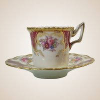 Coalport English Demitasse Cup and Saucer