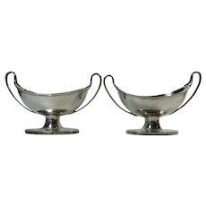 Silverplated Pair of Sugar Baskets Geo R Collis Circa 1872