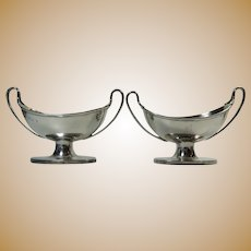 Silverplated Pair of Sugar Baskets Geo R Collis Circa 1872