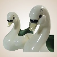 Kay Finch Pair of Swans Pottery Circa 1940