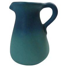 Van Briggle Pitcher 1950s Aqua Blue Ombre