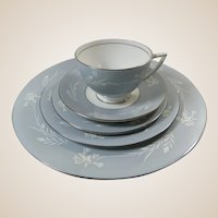 Minton Grey Cameo 5 Piece Place Setting