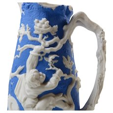 Parian Ware Jug Boy With Birds Nest Circa 1850