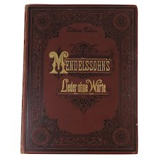 Book Mendelssohn's Lieder ohne Worte for the Piano