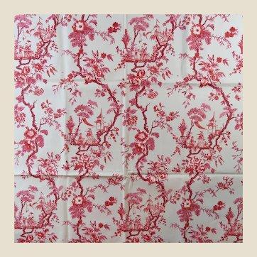 1960s Jofa Hand Print Toille Drapery Sample