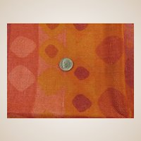 Eye Popping Orange Mid Century Drapery/Upholstery Sample