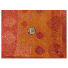 Eye Popping Orange Mid Century Drapery/Upholstery Sample