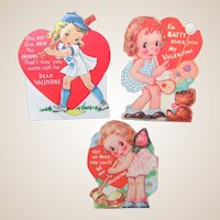 """Valentines 1940s Sports """"Women"""" From the Classroom Valentine Box"""