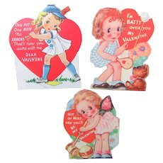 "Valentines 1940s Sports ""Women"" From the Classroom Valentine Box"