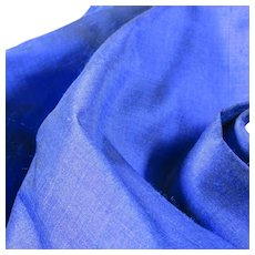 Royal Blue Yardage for Garments or Draperies Sewing