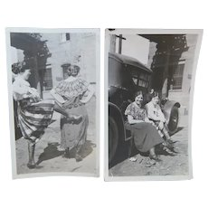 Clowning Around in 1920 Two Snapshot Photos